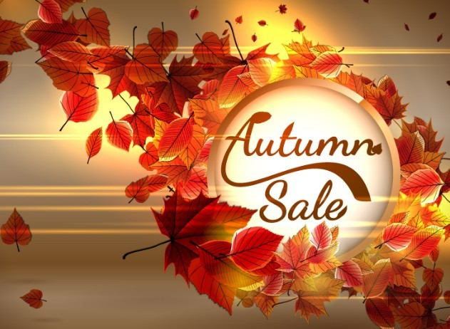 elegant-red-leaves-autumn-sale-vector-background