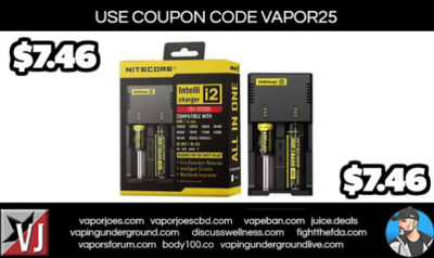 BLOWOUT: NITECORE i2  BATTERY CHARGER – $7.46