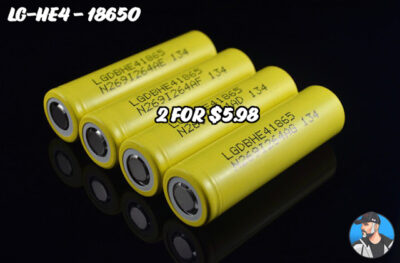 UNBELIEVABLE: LG HE4 18650 BATTERIES – $2.99 EA