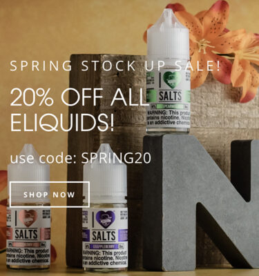 STOCK UP: 20% OFF ALL ELQIUIDS