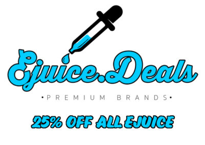 EJUICE.DEALS:  25% OFF ALL EJUICE (INCLUDING CLEARANCE AND ON-SALE)