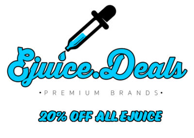 STOCK UP:  20% OFF ALL EJUICE (INCLUDING CLEARANCE AND ON-SALE)