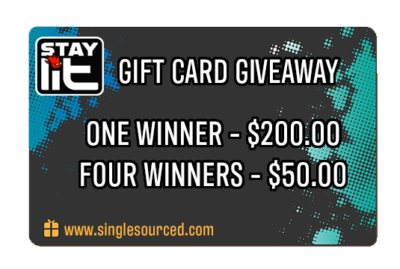 SINGLE SOURCE GIVEAWAY  – $400.00 IN GIFT CARDS