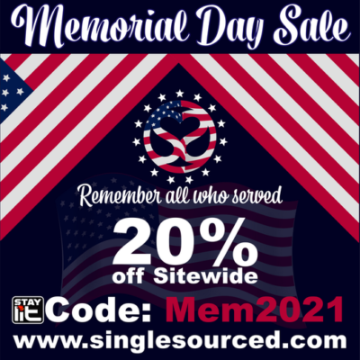 SINGLE SOURCE: MEMORIAL DAY SALE – 20% OFF SITEWIDE