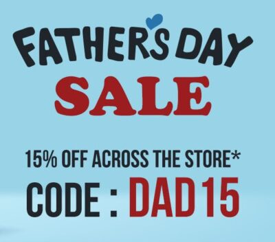 FATHERS DAY SALE: 15% OFF SITE-WIDE