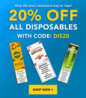 FLASH: 20% OFF ALL DISPOSABLES – EPIC PRICES